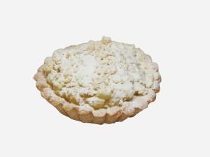 Połączenie kruchego korpusu z prażonymi jabłkami, kruszonką i cukrem pudrem.