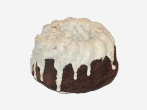 Ciasto mocno wilgotne, o instensywnie ciemnej barwie, wspaniałym aromacie i prawdziwie czekoladowym smaku, oblane białą polewą