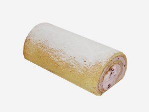 Połączenie delikatnego biszkoptu ze śmietaną o smaku malinowym z kawałkami malin. Całość dekorowana cukrem pudrem.